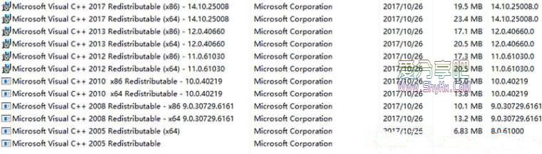 VC++运行库合集包 DirectX9.0c .NET Framework 全集