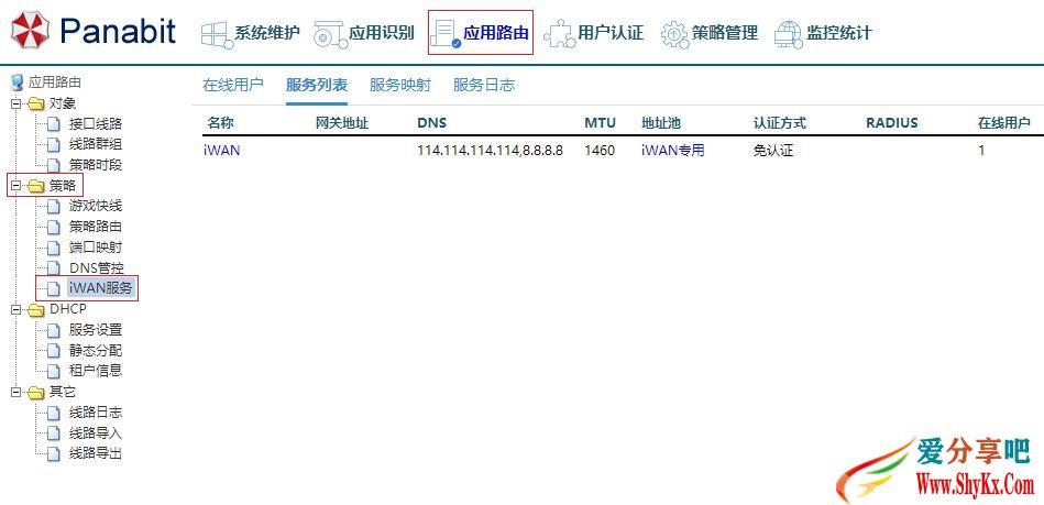网吧电信通线路应用Panabit路由iWAN功能 技术知识